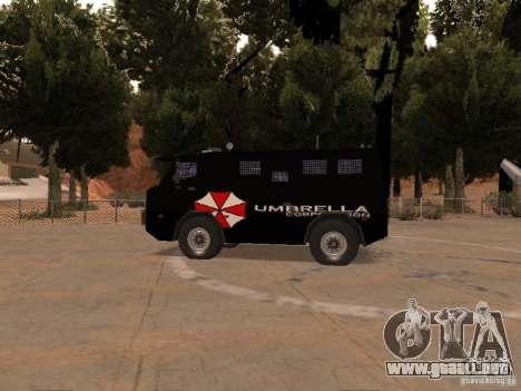 AM 7.0 Umbrella Corporation para GTA San Andreas vista posterior izquierda