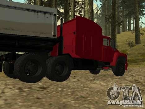 ZIL 130 Tractor para GTA San Andreas vista posterior izquierda