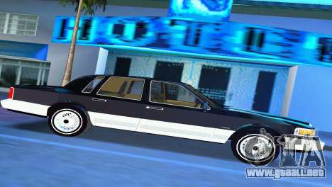 Lincoln Town Car 1997 para GTA Vice City left