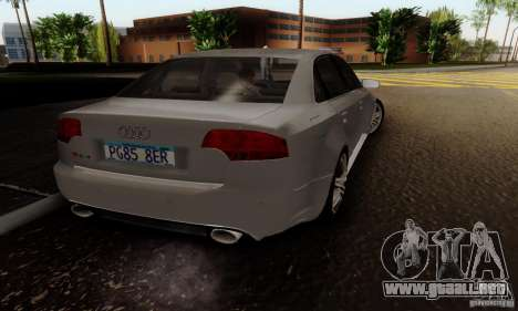Audi RS4 2007 para GTA San Andreas left