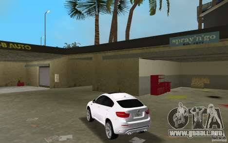 BMW X6M 2010 para GTA Vice City vista lateral izquierdo