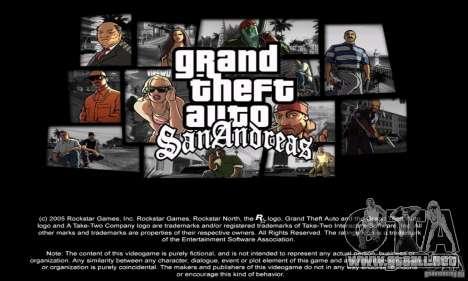 Loadscreens in GTA-IV Style para GTA San Andreas sucesivamente de pantalla