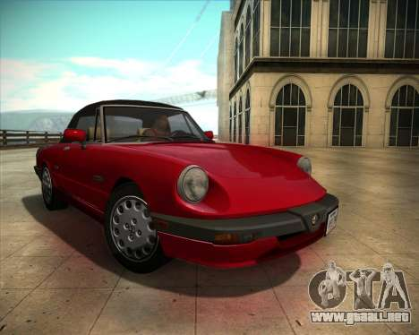 Alfa Romeo Spider 115 1986 para GTA San Andreas vista hacia atrás