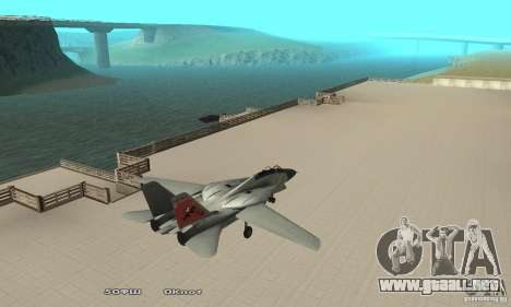 F14W Super Weirdest Tomcat Skin 2 para GTA San Andreas vista posterior izquierda
