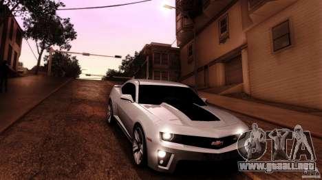 Chevrolet Camaro ZL1 2011 v1.0 para la vista superior GTA San Andreas