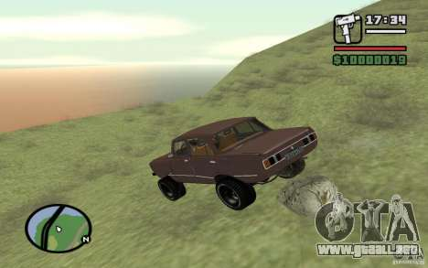 AZLK-2140 4x4 para la vista superior GTA San Andreas