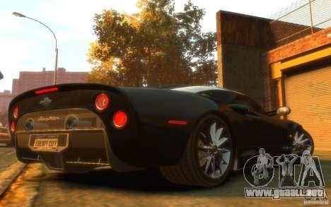Spyker C8 Aileron para GTA 4 visión correcta