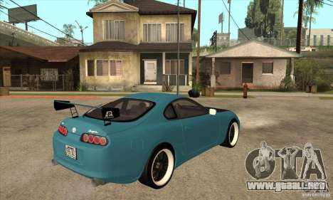 Toyota Supra Tuned para la visión correcta GTA San Andreas