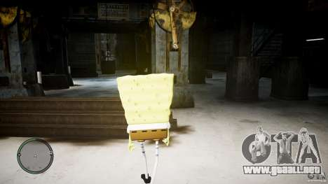 Bob esponja para GTA 4 adelante de pantalla