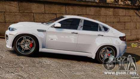 BMW X6 Hamann Evo22 no Carbon para GTA 4 left