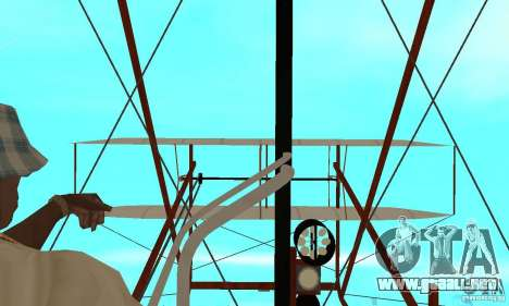 The Wright Flyer para GTA San Andreas vista hacia atrás