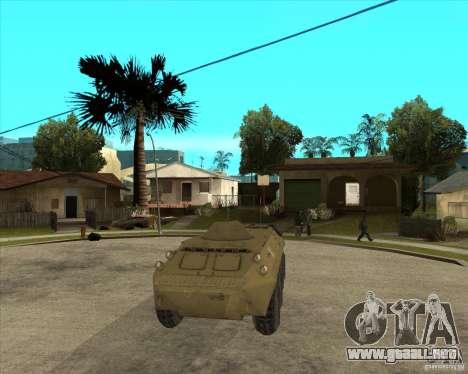 La APC de l. a. t. s. k. e. R para GTA San Andreas vista hacia atrás