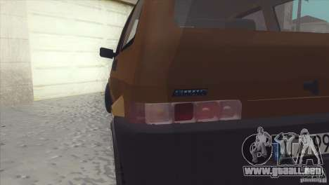 Fiat Cinquecento para GTA San Andreas vista hacia atrás