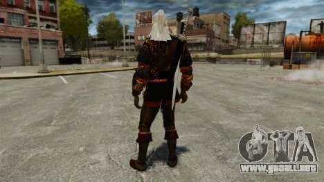 Geralt de Rivia v4 para GTA 4 tercera pantalla