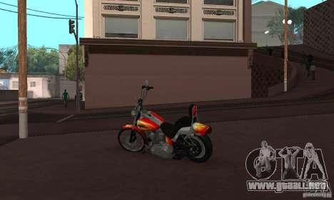Harley Davidson softail Skin 2 para la visión correcta GTA San Andreas