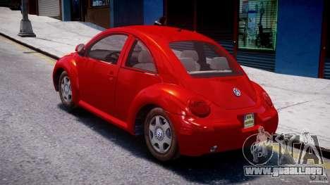 Volkswagen New Beetle 2003 para GTA 4 Vista posterior izquierda