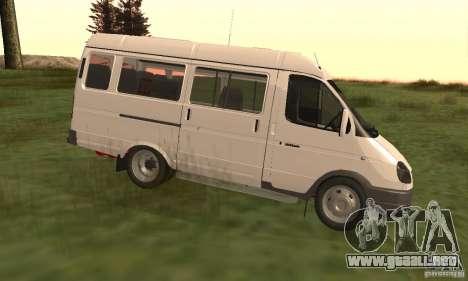 Gacela 32213 Novosibirsk Minibus para GTA San Andreas left