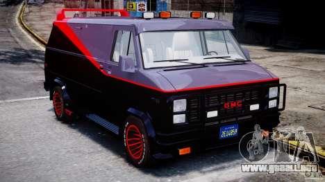 GMC Vandura A-Team Van 1983 para GTA 4 vista interior