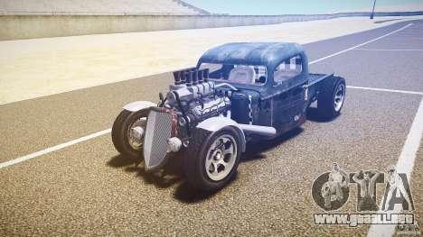 Ford Ratrod 1936 para GTA 4 vista hacia atrás