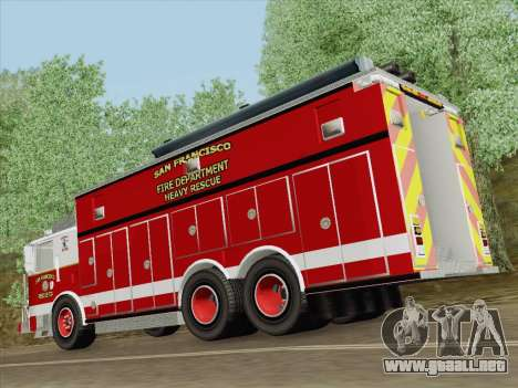 Pierce Walk-in SFFD Heavy Rescue para el motor de GTA San Andreas