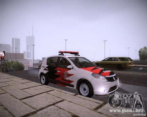 Renault Sandero Policia para la visión correcta GTA San Andreas