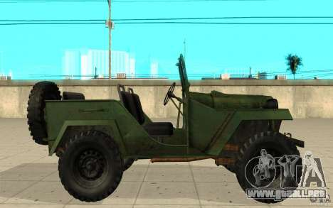 Gaz-67 para GTA San Andreas left