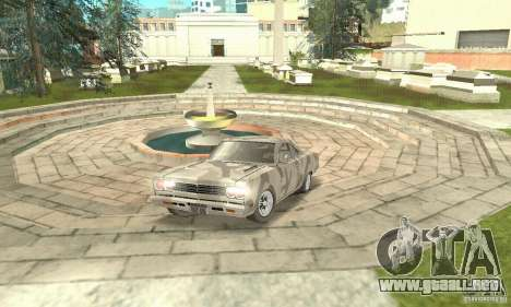 Plymouth Roadrunner 383 para vista lateral GTA San Andreas