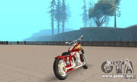 Orange County old school chopper Sunshine para GTA San Andreas left