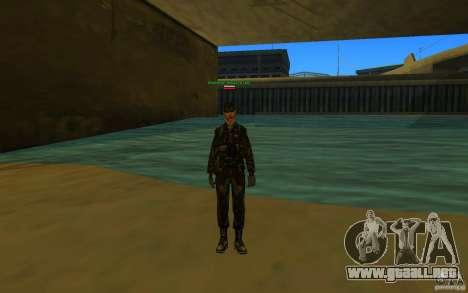 HQ skin Army para GTA San Andreas tercera pantalla