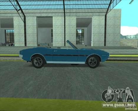 Pontiac Firebird Conversible 1966 para la visión correcta GTA San Andreas