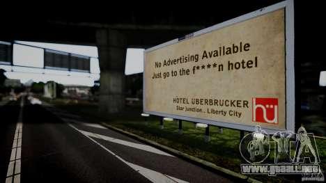 Realistic Airport Billboard para GTA 4 adelante de pantalla