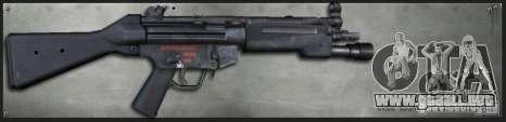 MP5A4 Surefire para GTA San Andreas