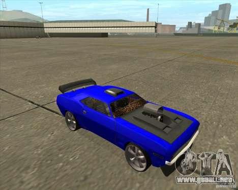 Plymouth Hemi Cuda de NFS Carbon para GTA San Andreas