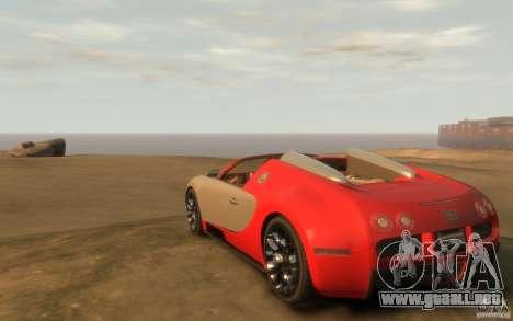 2009 Bugatti Veyron Grand Sport [EPM] para GTA 4 Vista posterior izquierda