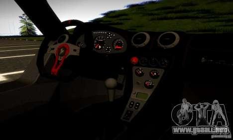 Gumpert Apollo para GTA San Andreas vista posterior izquierda