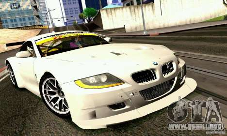 BMW Z4 E85 M GT 2008 V1.0 para GTA San Andreas vista posterior izquierda