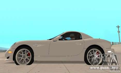 Panoz Esperante GTLM 2005 para GTA San Andreas vista posterior izquierda