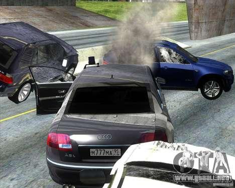 Audi A8L W12 para visión interna GTA San Andreas