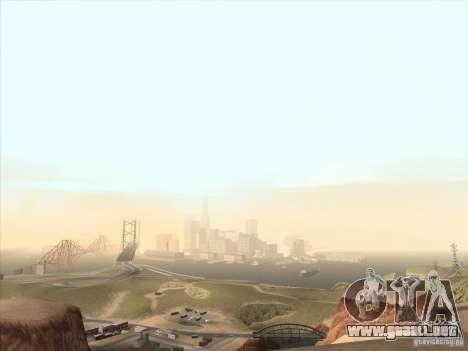 Un realista Timecyc para GTA San Andreas sucesivamente de pantalla
