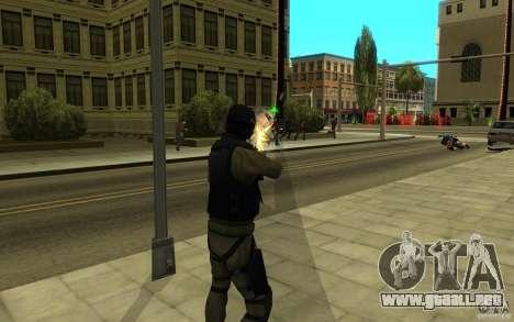 Fuerzas especiales-CJ para GTA San Andreas octavo de pantalla