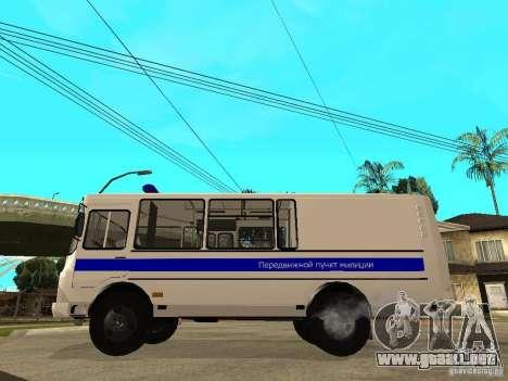 PAZ 3205 policía para GTA San Andreas left