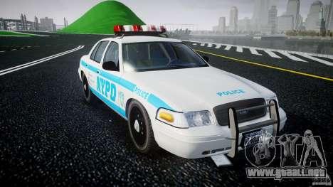 Ford Crown Victoria 2003 v.2 Police para GTA 4 vista hacia atrás