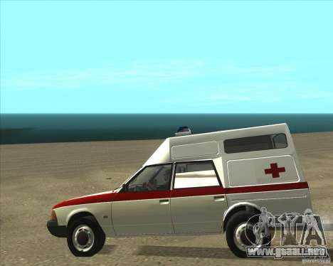 Ambulancia AZLK 2901 para GTA San Andreas vista posterior izquierda