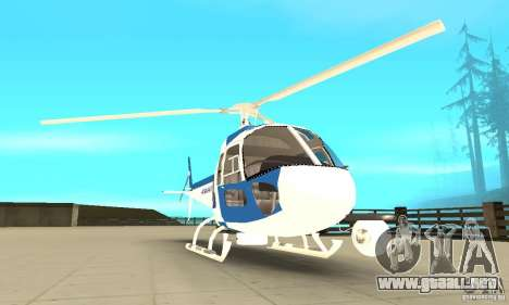 AS-350 Police para GTA San Andreas vista hacia atrás