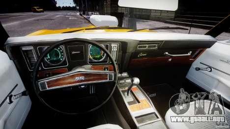 Chevrolet Camaro para GTA 4 vista hacia atrás
