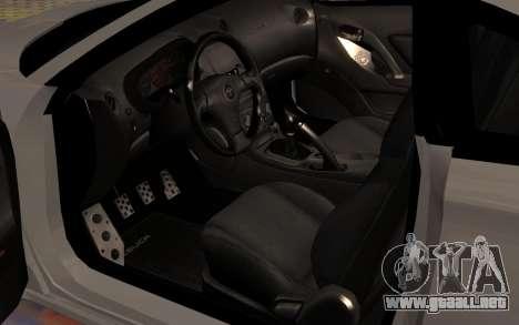 Toyota Celica 2JZ-GTE para vista inferior GTA San Andreas