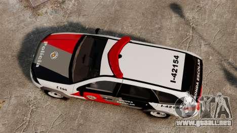 Fiat Palio Weekend Trekking 2013 PMESP ELS para GTA 4 visión correcta