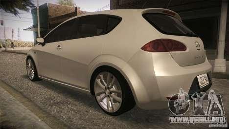 Seat Leon Cupra para vista lateral GTA San Andreas