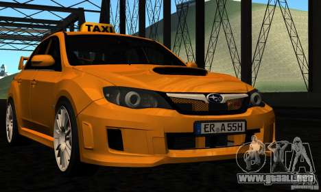 Subaru Impreza WRX STi 2011 TAXI para GTA San Andreas