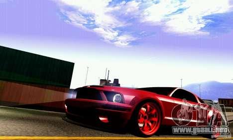 Shelby GT500 KR para la vista superior GTA San Andreas